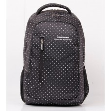 Kingsons Black Match White Hot Dot Series Backpack – Black